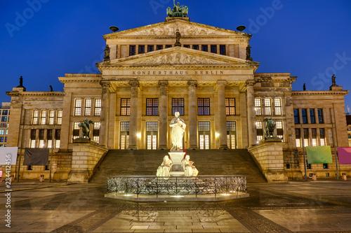 The Concert Hall at the Gendarmenmarkt in Berlin at night - 234412456