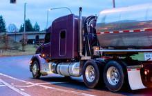 Purple Big Rig Semi Truck Tran...