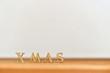 Xmas Weihnachten Holz Buchstaben