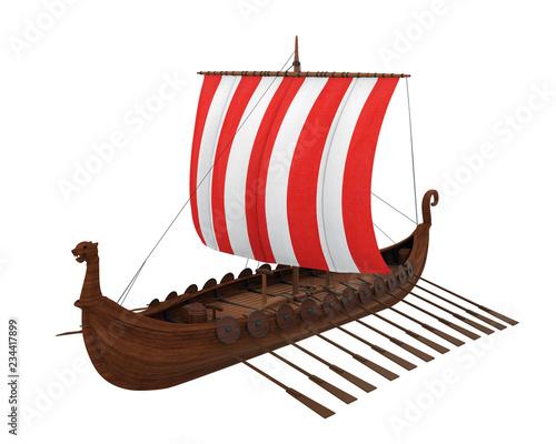 Viking Ship Isolated Slika na platnu
