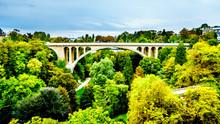 Vallé De La Pétrusse (Petrusse Park) Below The Pont Adolphe Bridge And In The City Of Luxumbourg