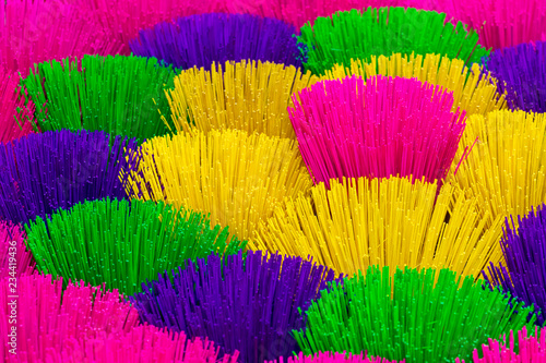 Deurstickers Asia land Large display of colorful Incense sticks on sale at a Vietnam village near Hue