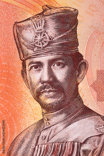 Sultan Hassanal Bolkiah portrait from Brunei money Canvas-taulu