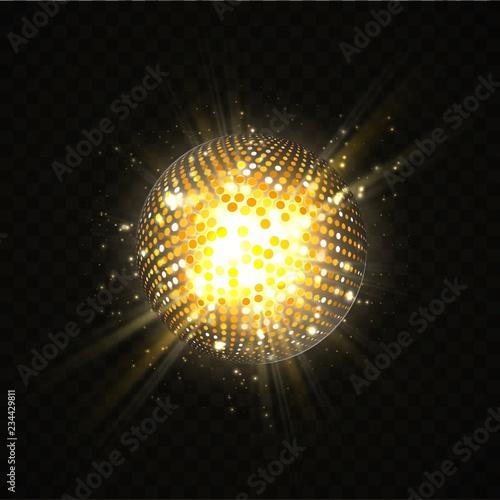 Fotografija Abstract disco ball party design element