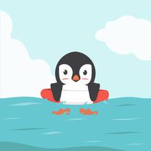 Penguin Swimming Inflatable Ri...