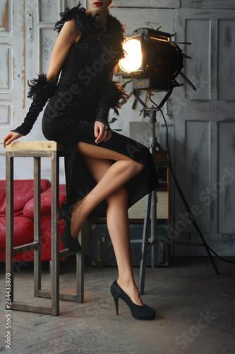 Fotografie, Obraz  Unrecognizable actress in action