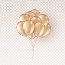 Balloons Isolated On Transpare...