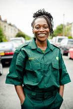 Portrait Of Female Paramedic I...