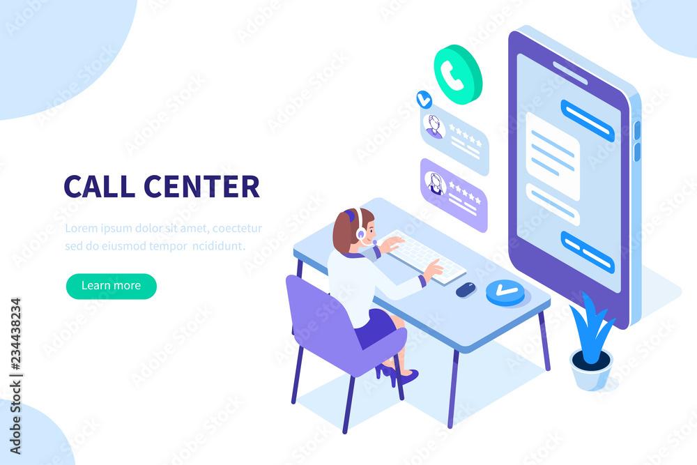 Fototapeta call center