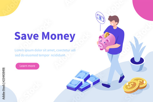 Fototapeta save money obraz