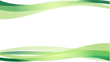 The Abstract Vector Image  Green Wave On White Background.