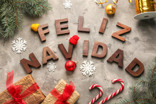Words FELIZ NAVIDAD Made With ...