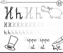 How To Write Letter H Workbook