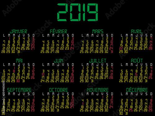 Calendario Frances.Calendario 2019 Digital En Frances Con Fiestas De Francia