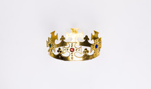 Ancient Golden Royal Crown On ...