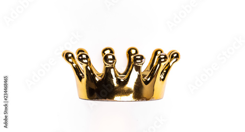 Fotografering ancient golden royal crown on a white isolated background