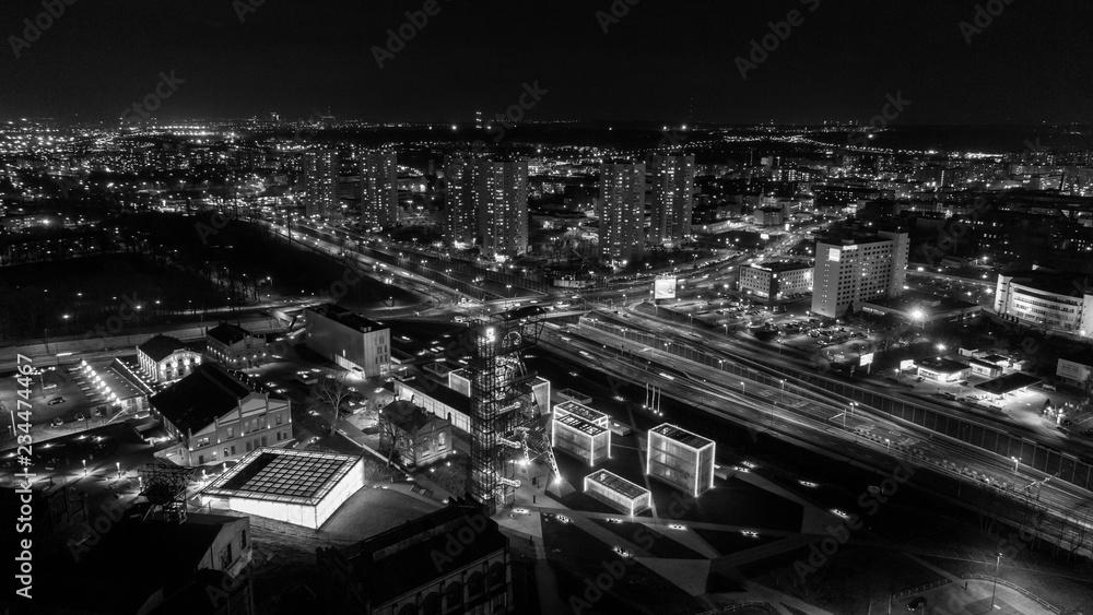Fototapeta Katowice pejzaż wieczorny