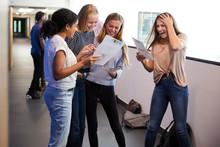 Excited Female Teenage High Sc...