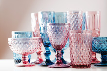Embossed Colored Drink Glasses...