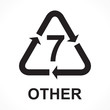 Recycling Symbols number 7 other, vector