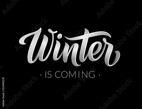 Winter is coming abstract vector banner design template Canvas-taulu