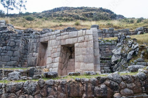 Fotografie, Obraz  Ancient Inco stonework and buildings near Cuzco, Peru