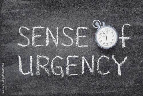 sense of urgency watch Fototapete