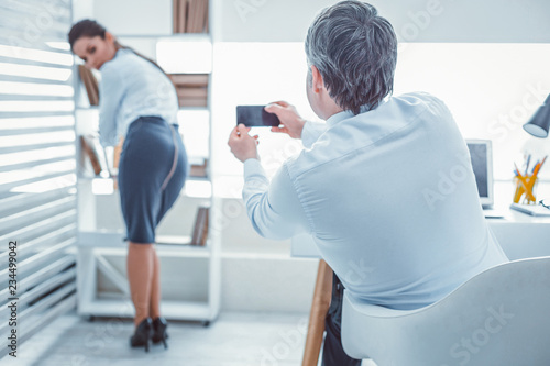 Photographing beautiful partner Canvas Print