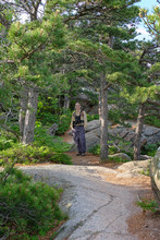 Hiking On The Beehive Trail, Acadia National Park, Maine