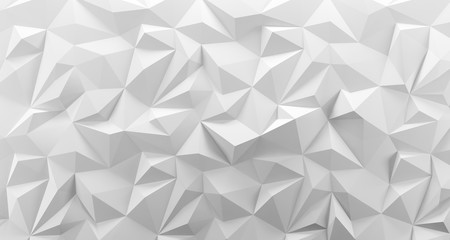 White low poly background t...