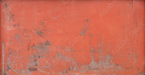 Texture Painted Metal Sheet. Cracks. Peeling Paint. Panorama. Wallpaper Mural