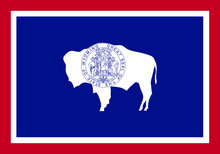 Wyoming Vector Flag. Vector Il...