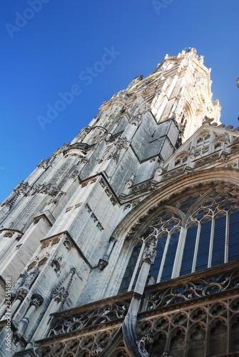 In de dag Noord Europa Cathédrale Notre-Dame d'Anvers (Belgique)