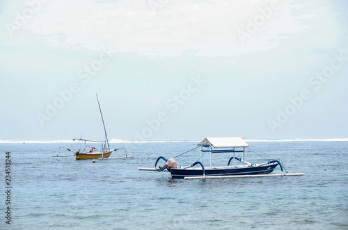Printed kitchen splashbacks Canary Islands Fishing boats in the ocean, Bali