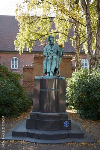 Photo  Copenhagen, Denmark - October 10, 2018:View of Søren Kierkegaard sculpture in th