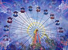 Kaleidoscopic Image Of Ferris Wheel