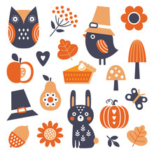 Cute Set Of Vector Icons And E...