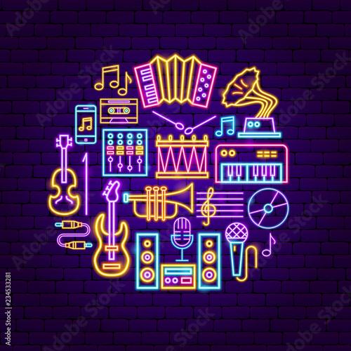 Music Neon Concept
