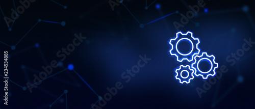 Cuadros en Lienzo  Business services, Technical help, Gear, Configuration, Support center, Contact
