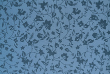 Grey Fabric Wallpaper With Flowers