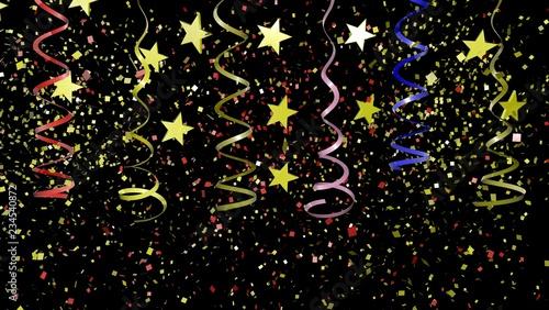 Fotografie, Obraz Colorful Confetti on Background