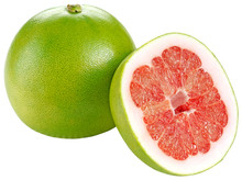 RED POMELO GRAPEFRUIT CUT OUT