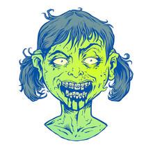 Little Girl Zombie Head