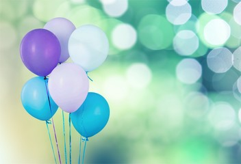 Colorful balloons with happ...