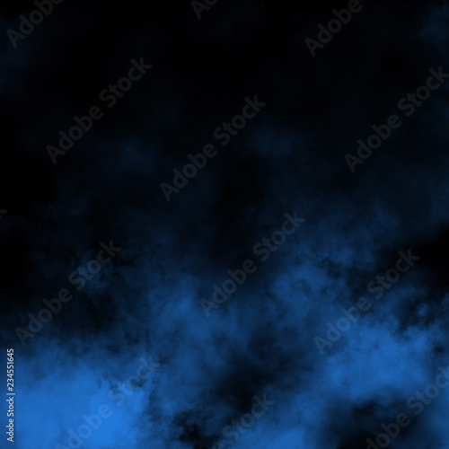 Photo Stands Textures Blue fog and mist effect on black stage studio showcase room background.