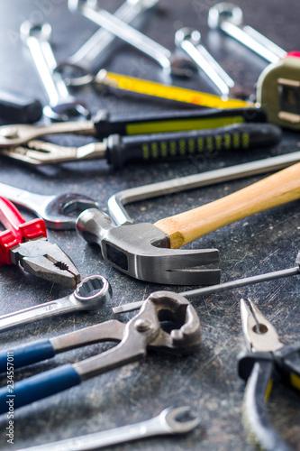 Fotografía  Set of tools. Hand tools for craftsmen.