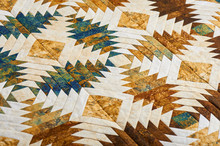 Fragment Of Quilt Stitched Fro...