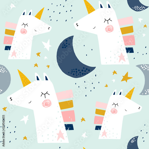 Tapety do pokoju dziewczynki  seamless-childish-pattern-with-cute-unicorns-and-moons-creative-scandinavian-kids-texture-for-fabric-wrapping-textile-wallpaper-apparel-vector-illustration