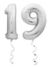 Silver Chrome Number 1 Made Of Inflatable Balloon