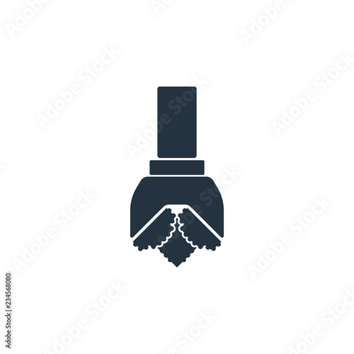 Obraz drill isolated icon on white background, oil industry - fototapety do salonu